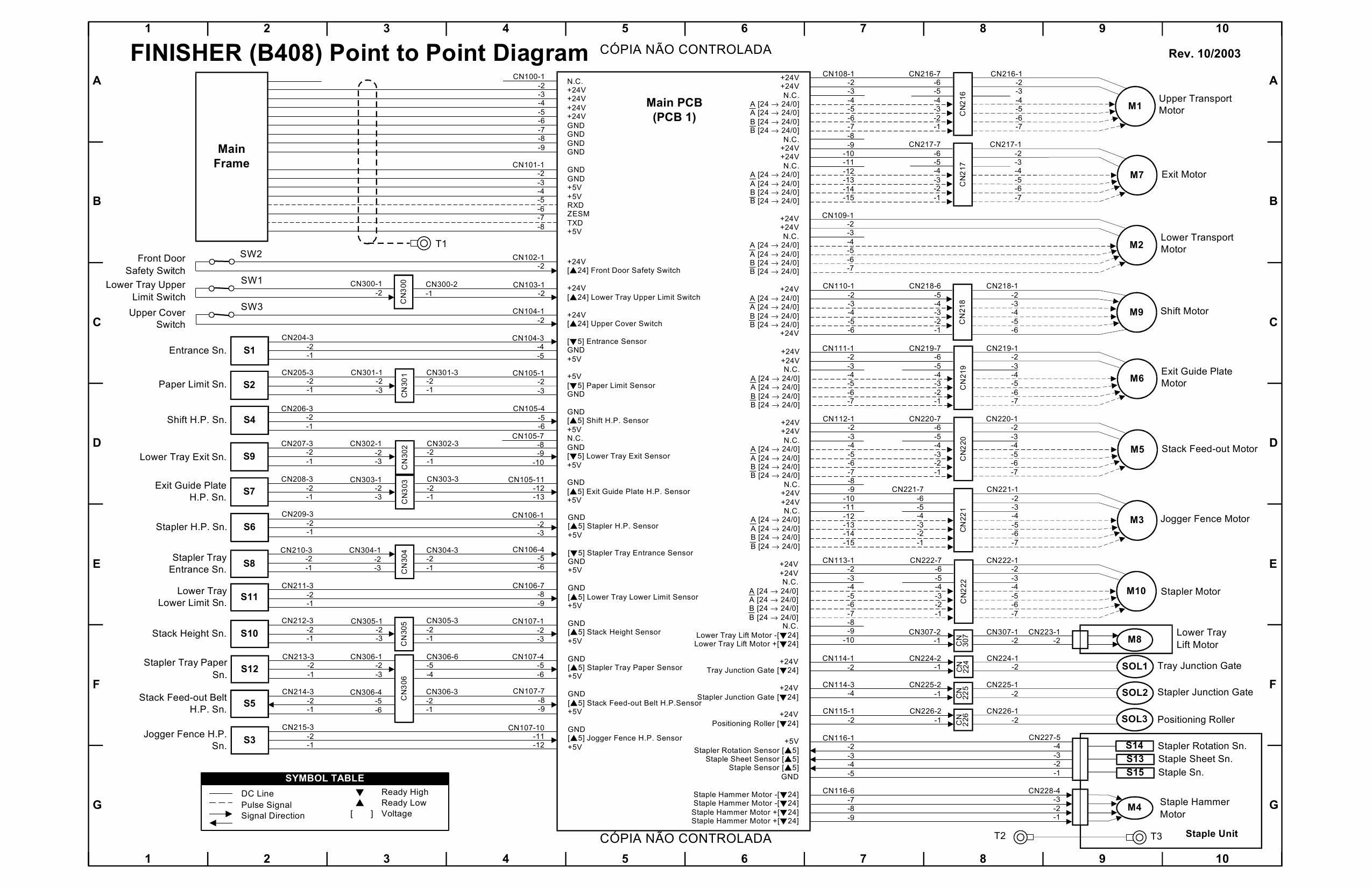 RICOH Aficio MP-3500g 4500g 3500 4500 B291 B295 B296 B297 Circuit Diagram-5